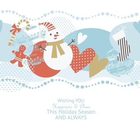 lebkuchen: nahtlose horizontale Weihnachten Muster