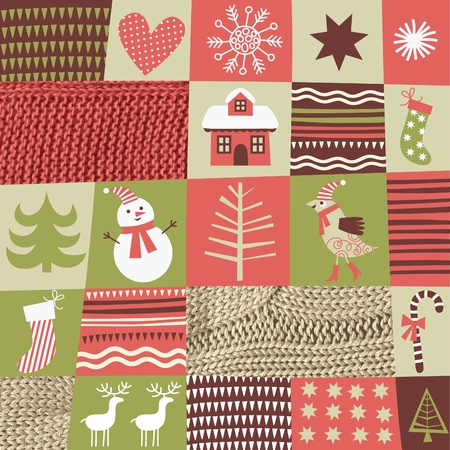 quilt: Christmas and New Years background Illustration
