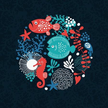 marine life: sea life Illustration
