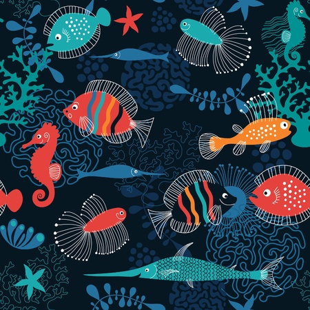 aquatic: sea background  Illustration