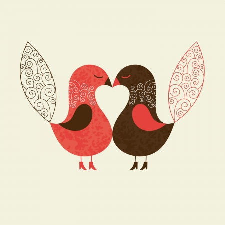 couple dating: cute birds