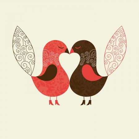 leuke vogels Vector Illustratie