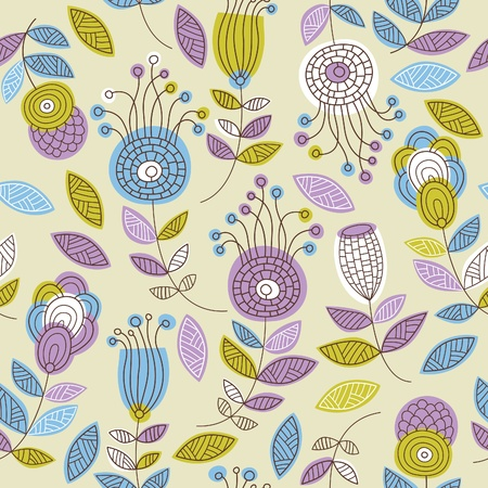 seamless floral pattern  Stock Vector - 12834984