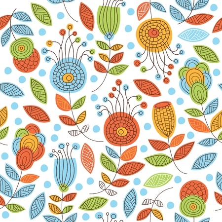 color floral pattern Stock Vector - 13743298