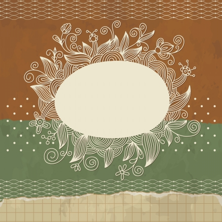 flourish frame Vector