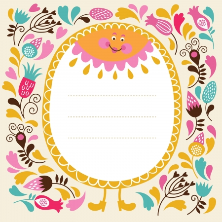 cartoon frame: greeting card