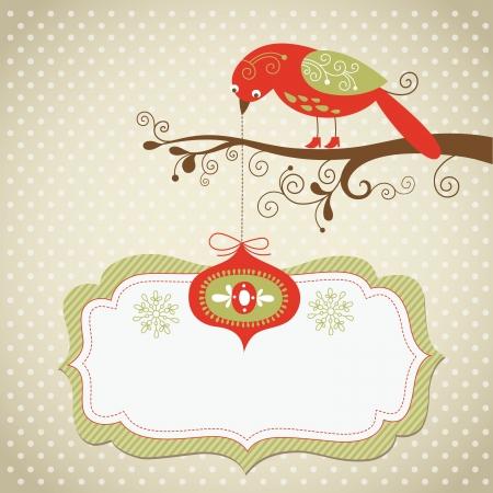 christmas bird: Christmas card