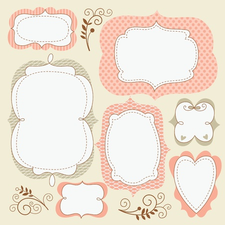 set cute frames  Vector