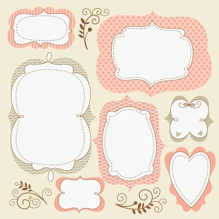 stationery border: set cute frames