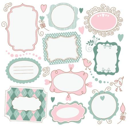 page decoration: Vintage Frames  Illustration