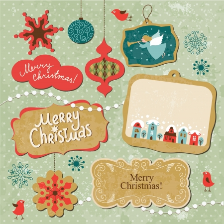 christmas x mas: Set of Christmas and New Year elements  Illustration