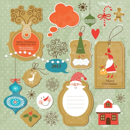 Set of Christmas and New Year elements Stock Vector - 15929266