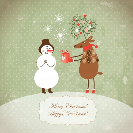 Christmas and New Year card Stock Vector - 16138972
