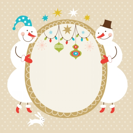 Christmas and New Year greeting card Stock Vector - 16240508