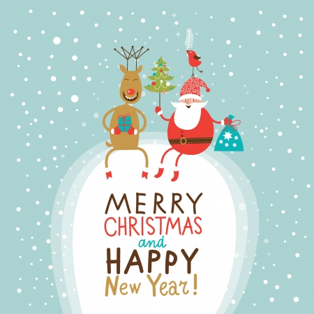 x mas background: Christmas and New Year greeting card