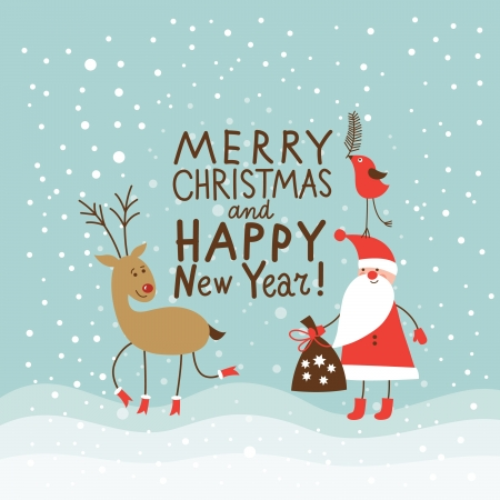 Christmas and New Year greeting card Stock Vector - 16240514