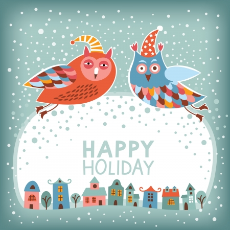 Christmas and New Year card Illustration