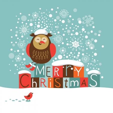 snowdrifts: Natale e Capodanno carta Vettoriali