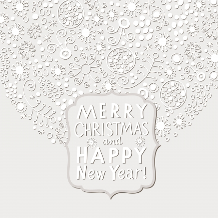 x mas parties: Christmas and New Year card Illustration