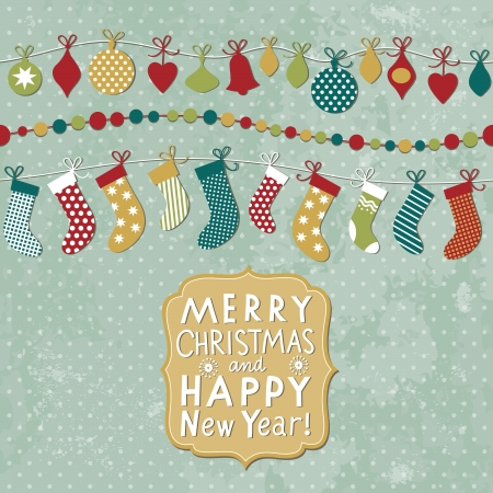 Christmas and New Year card Stock Vector - 16424619