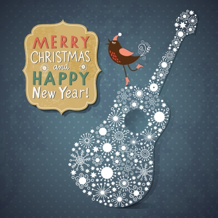 Christmas and New Year s card Vector