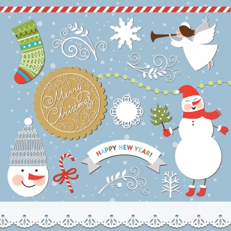 Set of Christmas and New Year elements  Stock Vector - 16508248