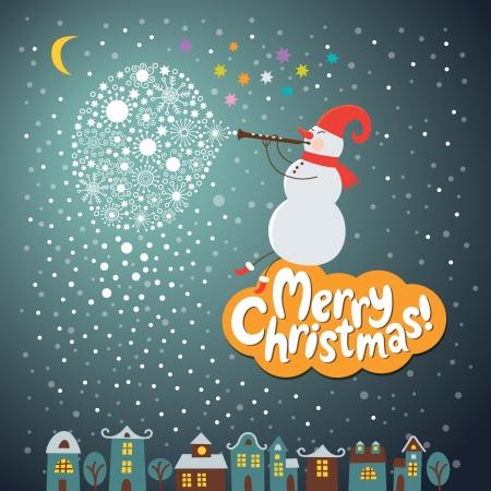 Weihnachten und Neujahr Grußkarten