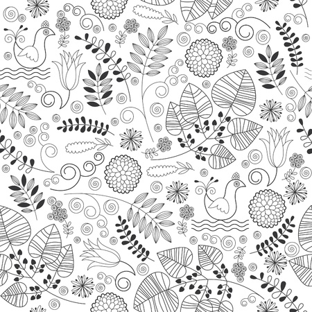Seamless floral pattern Stock Vector - 19247825