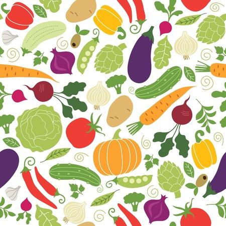 баклажан: Бесшовные шаблон, овощи Иллюстрации