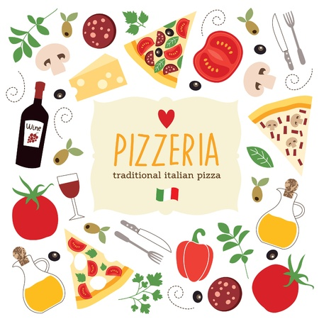 pizza: pizza illustratie