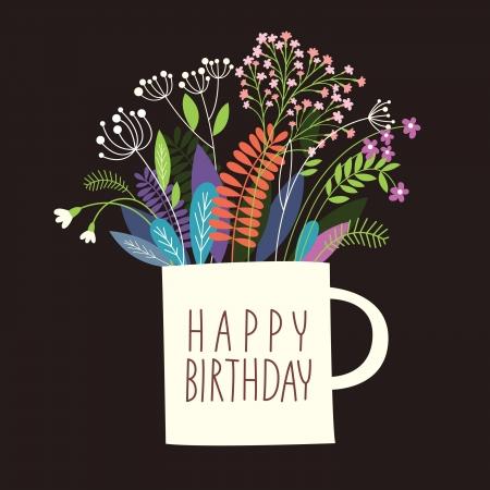 Greetings card, Happy Birthday Stock Vector - 20060384