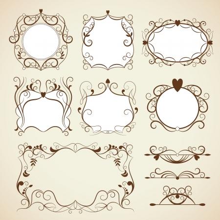 Elegance vintage frames Illustration
