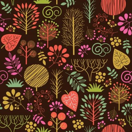 seamless autumn pattern Stock Vector - 20058564