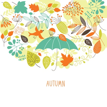 fall background: Autumn illustration