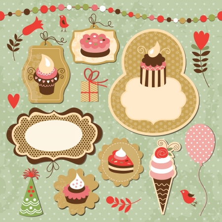 Set of Holiday elements Vector