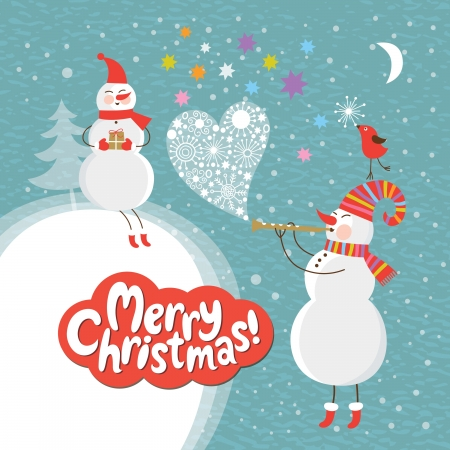 new year's: Christmas and New Year s card Illustration