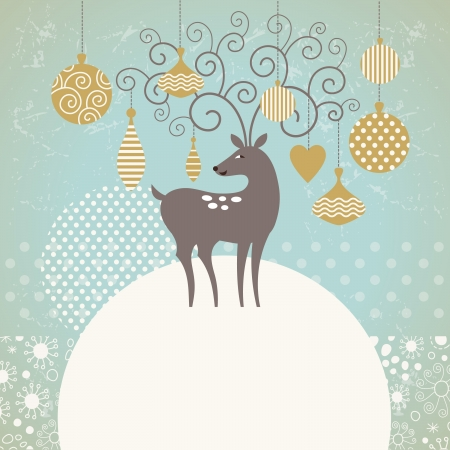 Greeting card, Christmas deer Stock Vector - 21045346