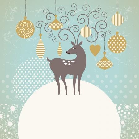 Greeting card, Christmas deer