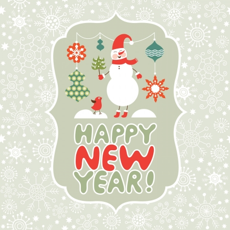 year s: Christmas and New Year s card Illustration