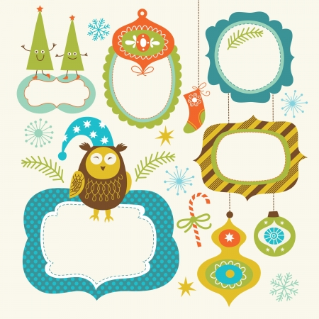 Christmas and New Year s Frames Vector