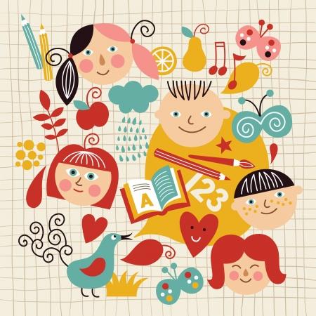 school set: Back to School Illustration