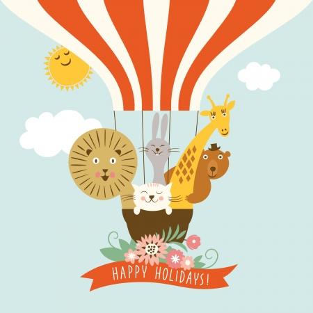 lion baby: Simpatici animali divertenti in un palloncino