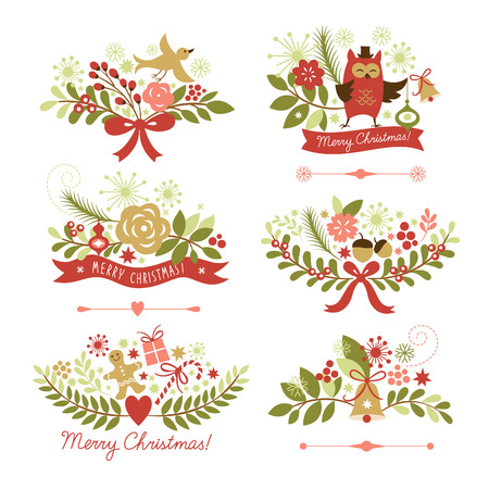 noel: Set of Christmas and New Year graphic elements