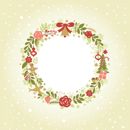 Christmas wreath Stock Vector - 22970534