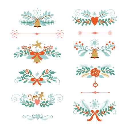 campanas de navidad: elementos gráficos vacaciones Vectores