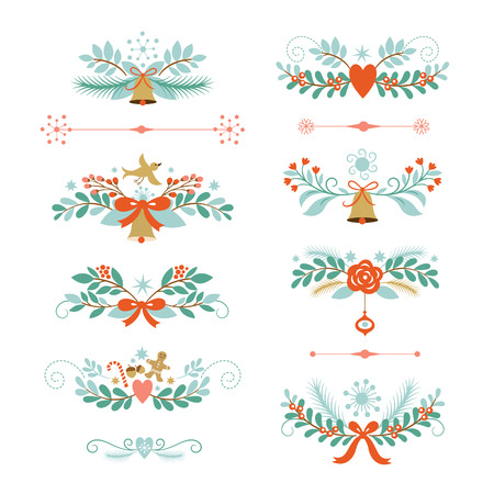 christmas holly: holiday graphic elements