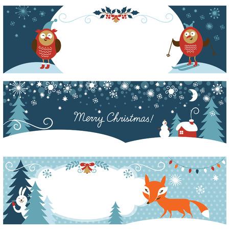 horizontální: Vánoční horizontální bannery