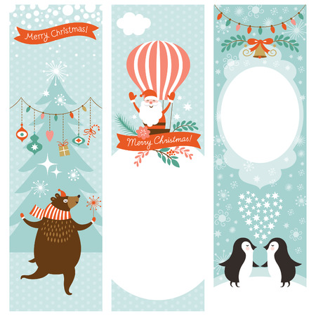 set of vertical Christmas banners Illustration