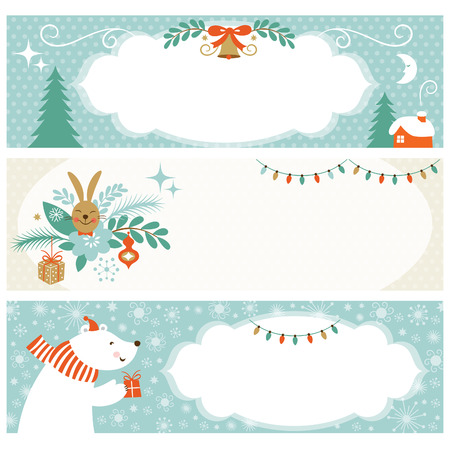 horizontal: Christmas horizontal banners Illustration