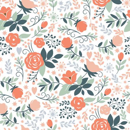 festive pattern: Seamless floral pattern